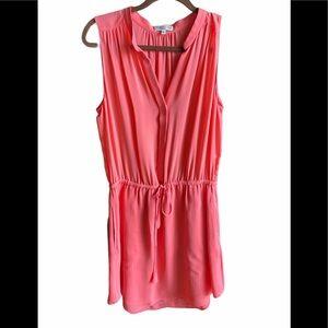 Aritizia Babaton Coral 100% Silk Dress Sz M